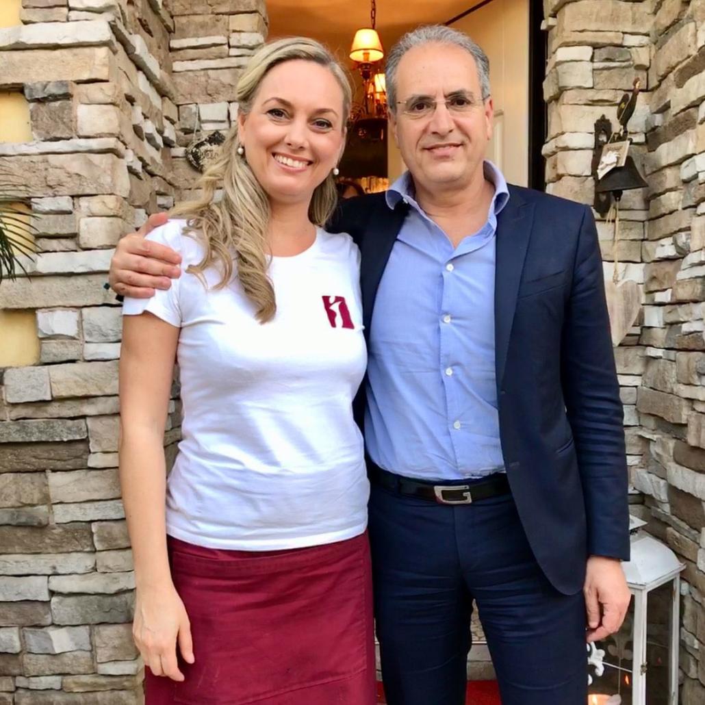 ewa mackowiak con il sindaco