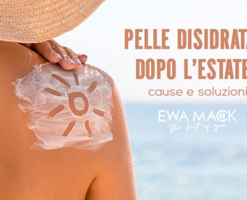 foto pelle idratata in modo naturale con cosmetici ewa mack